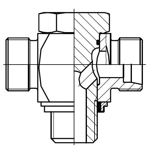 TH-R-KDS - vysokotlaká stavitelná T přípojka