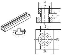 TMC - matice nosníku příchyty série C