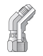 V6MX - hydraulická 45°úhlová spojka s maticí Triple-Lok® 37°
