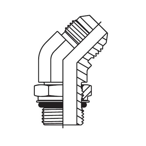 V87OMX - hydraulická 45°úhlová spojka Triple-Lok® 37°