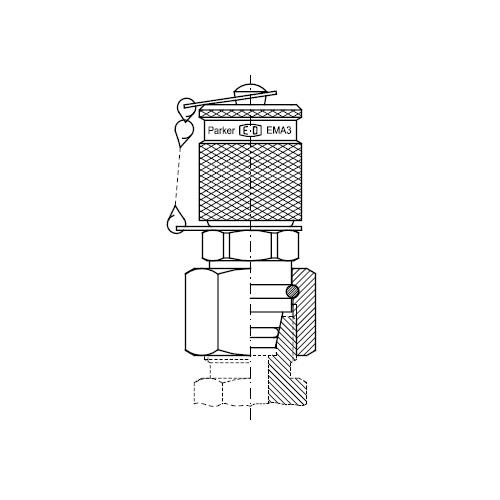 Měřící body s převlečnou maticí VKA3 připojení M16x2