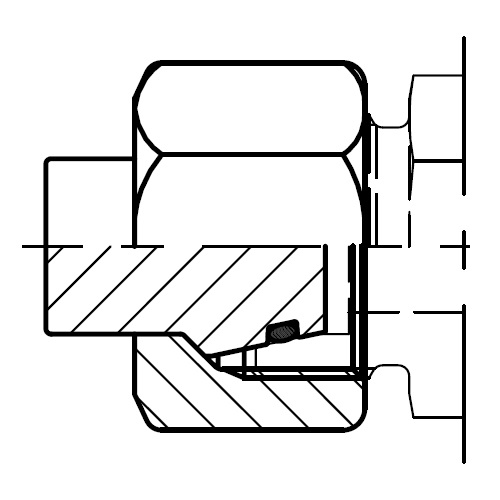 VKAM - hydraulická záslepka s maticí pro těsnicí kužel EO