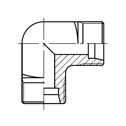 W - hydraulická úhlová spojka šroubení