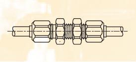 WBM - nástrčná dvoudílná spojka mosazná panelová Metrulok