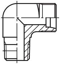 WE-NPT - hydraulické 90°úhlové hrdlo šroubení