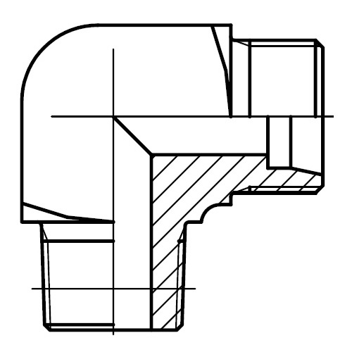 WE-R(KEG) - hydraulické 90°úhlové hrdlo