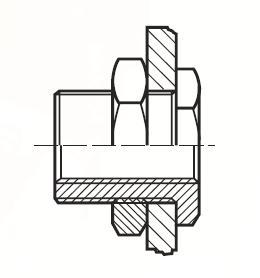 WGG44BL - pneumatický přímý adaptér panelový