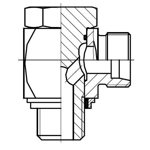 WH-M-KDS - vysokotlaká stavitelná 90°úhlová přípojka