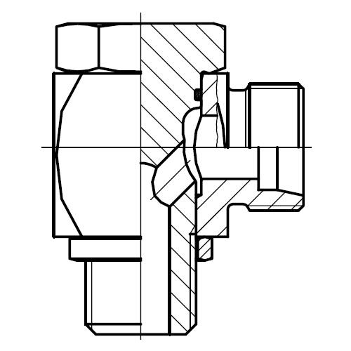WH-R - vysokotlaká stavitelná 90°úhlová přípojka