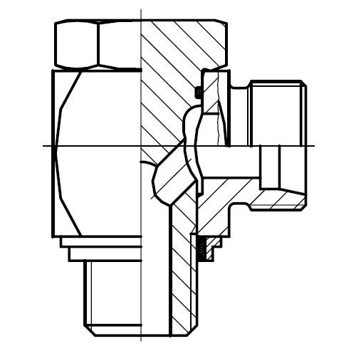 WH-R-KDS - vysokotlaká stavitelná 90°úhlová přípojka
