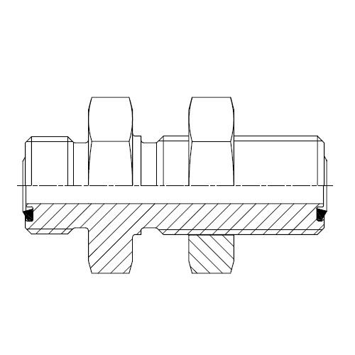 WMLO - hydraulická panelová spojka šroubení O-Lok