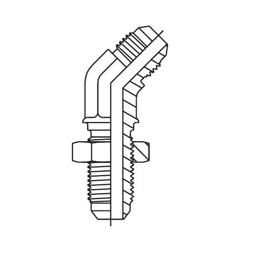 WNTX - hydraulická 45°úhlová panelová spojka Triple-Lok® 37°