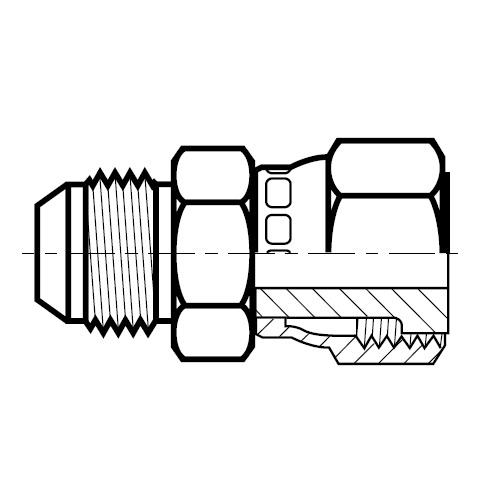 XHML6 - hydraulická převodní spojka na O-Lok\Triple-Lok