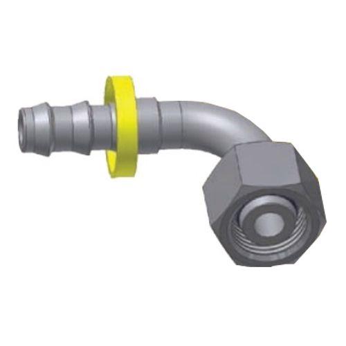 CF - Push-Lok koncovka DKOL 90° nástrčná s maticí