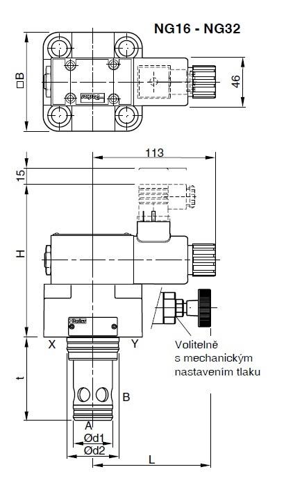 hydraulick u00fd proporcion u00e1ln u00ed pojistn u00fd tlakov u00fd ventil  velikost ng25  solenoid 12v  2 3a re25e10w1sn1kw